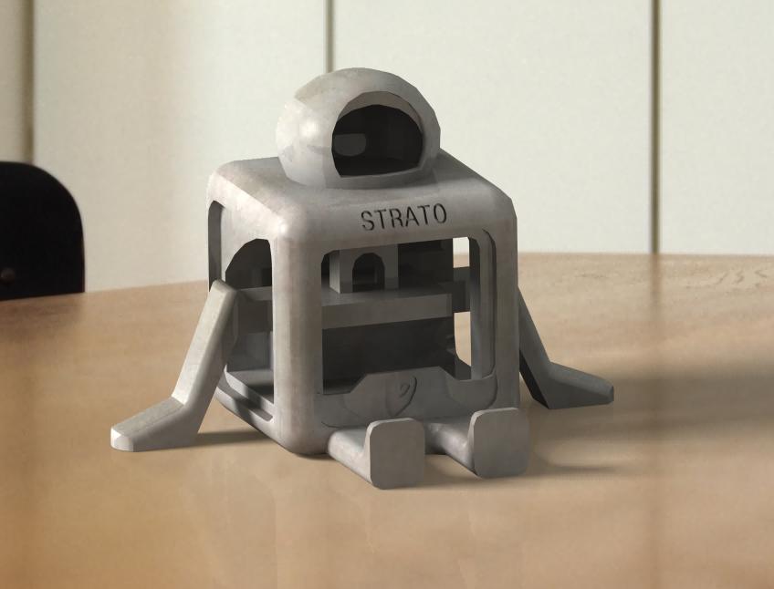 mascot1.png Télécharger fichier STL gratuit STRATO (PAS DE SUPPORTS) • Plan à imprimer en 3D, nicjones1