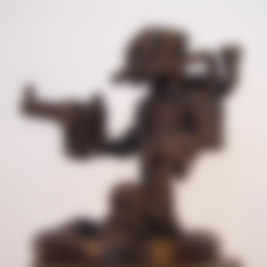 Download free 3D printer files Steam Punk Warrior, Tini