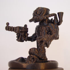 Free 3D print files Steam Punk Warrior, Tini
