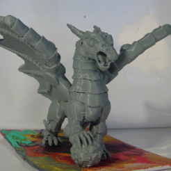 Download free STL file Armored Dragon, Tini