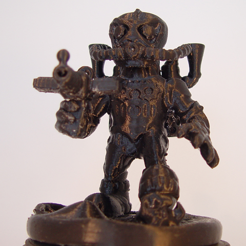 Free 3D printer file Steam Punk Warrior, Tini
