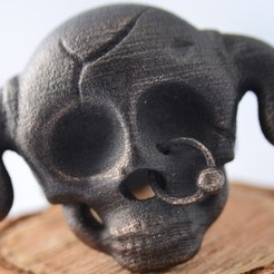 Free 3d printer model Nasty Skull Ring, Tini
