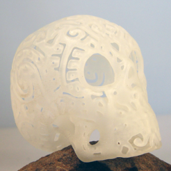 Download STL file Skull Fine Pattern • 3D printing design, Tini