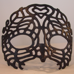 Capture d'écran 2017-01-26 à 14.53.44.png Download STL file Venetian Mask • Template to 3D print, Tini