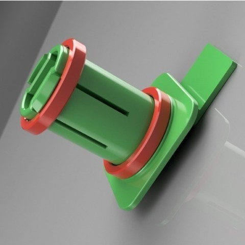 Spool_holder_1kg_forFlashforge2016_render.jpg Download free STL file Spool_holder_1kg_forFlashforge2016 • 3D print model, Pauerbuk