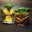 Télécharger fichier OBJ gratuit Bébé Yoda • Plan pour imprimante 3D, ChristianFaisy