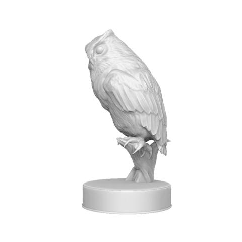 Hibou_render_02.png Download OBJ file Sculpture Owl • 3D print design, Harkyn