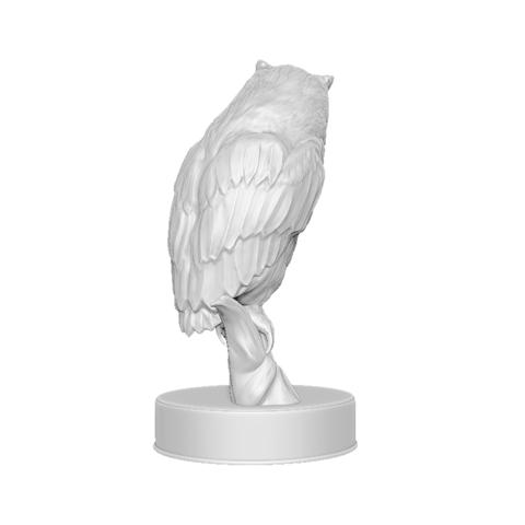 Hibou_render_04.png Download OBJ file Sculpture Owl • 3D print design, Harkyn
