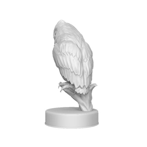 Hibou_render_03.png Download OBJ file Sculpture Owl • 3D print design, Harkyn