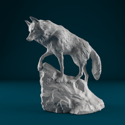 06.png Download OBJ file Snow wolf • 3D print object, Harkyn