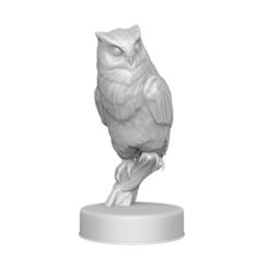 STL file Sculpture Owl, Harkyn