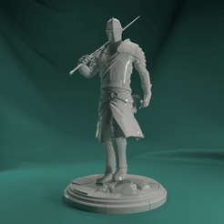 01.png Download STL file Knight • 3D printable template, Harkyn
