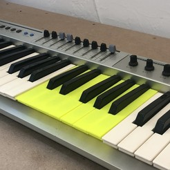 Download free 3D print files Replacement Keys for Synth Keyboard Evolution MK-449C, Gauthier