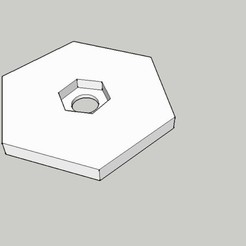simu.jpg Download free STL file Camera tripod fixation • 3D printable template, Gauthier