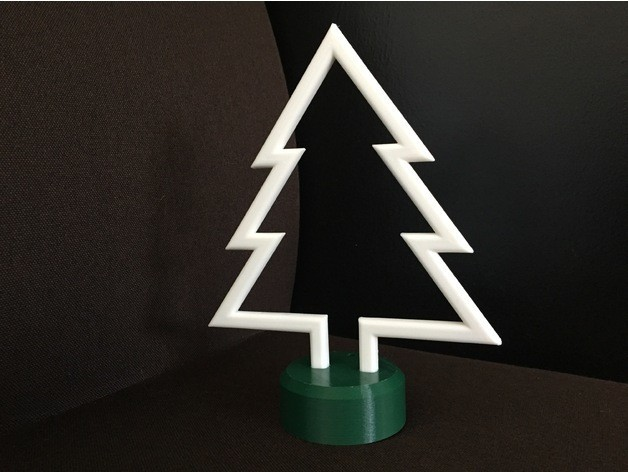 Angled Left.jpg Download free STL file Simple Christmas Tree • Model to 3D print, upperpeninsulaplastics