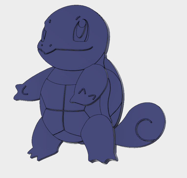 Squirtle Angled.PNG Download free STL file Squirtle • 3D printing object, upperpeninsulaplastics