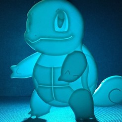 Download free STL file Squirtle • 3D printing object, upperpeninsulaplastics
