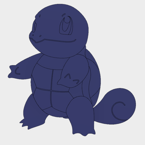 Squirtle Front.PNG Download free STL file Squirtle • 3D printing object, upperpeninsulaplastics