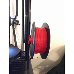 Free Spool holder for 2020 Extrusions (Deltas) 3D model, AlkinsDesigns