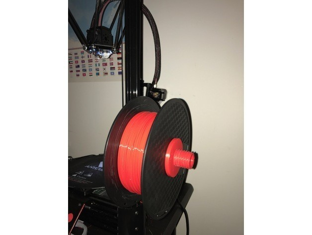 e0650b08296a87f907dd2f6ed6f909e8_preview_featured.JPG Download free STL file Spool holder for 2020 Extrusions (Deltas) • Model to 3D print, AlkinsDesigns