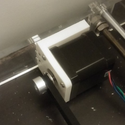 Free stl Sunhokey Prusa i3 y-axis rear stepper motor mount, AlkinsDesigns