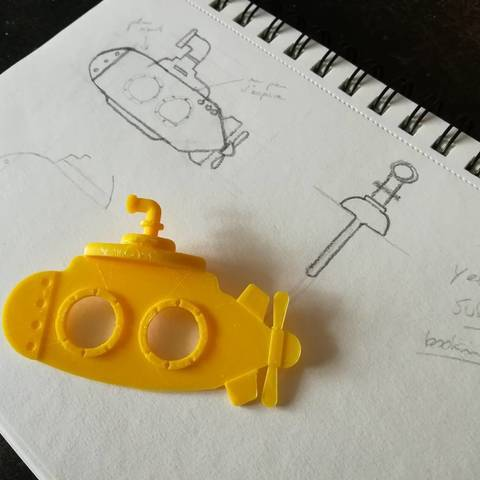 Download STL file Yellow submarine bookmark • 3D print model, Faivre
