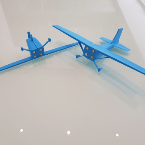 Capture d'écran 2018-05-04 à 11.18.48.png Download free STL file Airplane Model for Flight School • 3D printer design, FABtotum