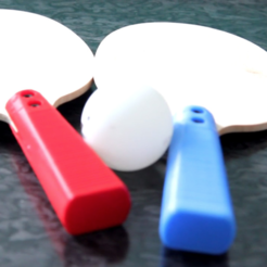 Download free STL file Fully Fabbable Tennis table paddles • 3D printing object, FABtotum
