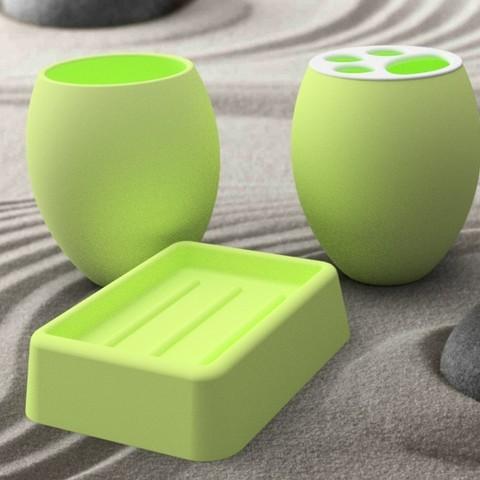 accessoire-vert-carre.jpg Download STL file Bathroom accessory 3dgregor • 3D printer model, 3dgregor