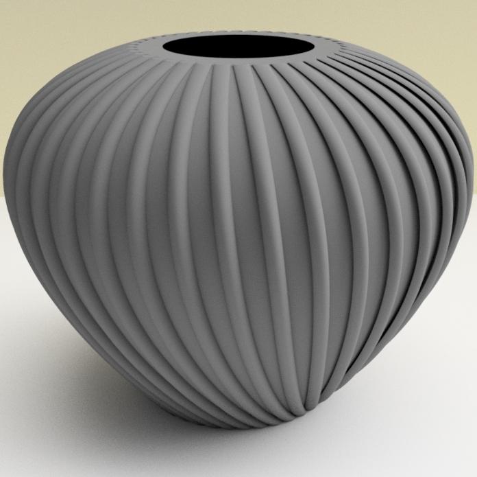 """vase crozon gris.jpg Download STL file flowervase """"sea series"""" 3dgregor • 3D printer template, 3dgregor"""