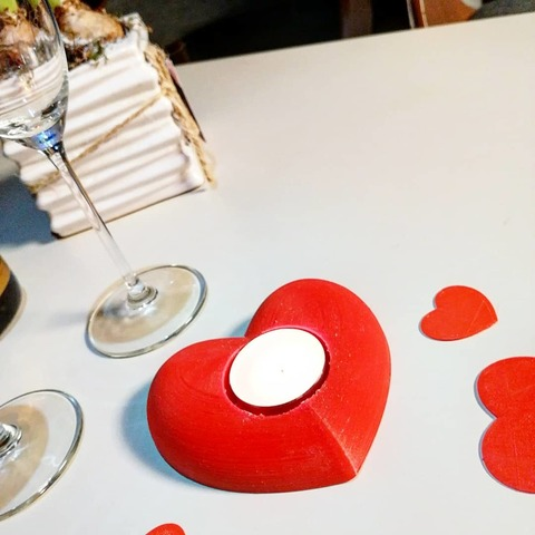 """3D printer files Candle holder """"Valentine's Day"""" 3dgregor, 3dgregor"""
