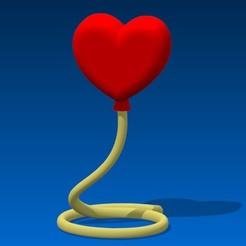 Télécharger objet 3D Love balloon, 3dgregor