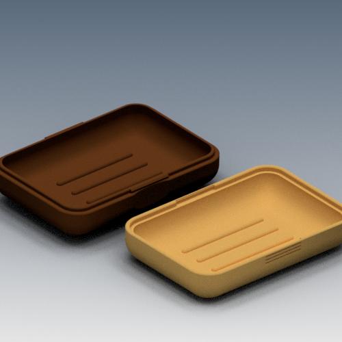 Ensemble boite a savon IMAGE 2.png Download STL file Soap box for soap • 3D print template, 3dgregor