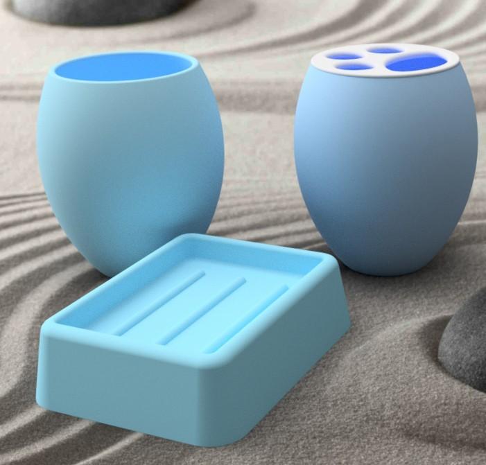 accessoire-bleu-carre.jpg Download STL file Bathroom accessory 3dgregor • 3D printer model, 3dgregor