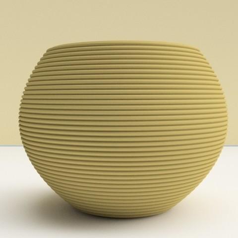 "Download 3D printer files Flowers pot ""round classic"" pot, 3dgregor"