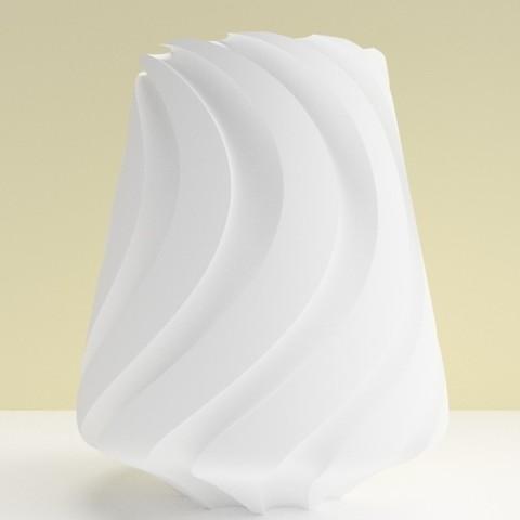"""vase lille blanc.jpg Download STL file SWEETWAVE"""" vase 3dgregor • 3D print design, 3dgregor"""