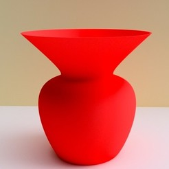 "vase evasé rouge.jpg Download STL file 3dgregor ""open"" vase • Template to 3D print, 3dgregor"