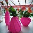 """Download 3D printer designs 4 flower vases """"SHELL serie"""", 3dgregor"""