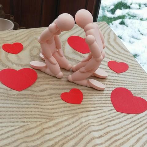 STL First kiss of valentine's day 3dgregor, 3dgregor
