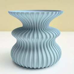Download 3D printing designs Zarb wave vase, 3dgregor