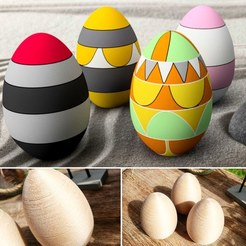 3D print model eggs to paint, 3dgregor