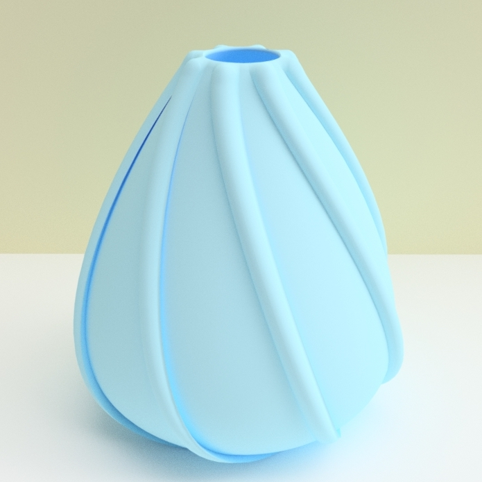 "vase coquillage bleu.jpg Download STL file ""low tide"" vase 3dgregor • 3D printing template, 3dgregor"