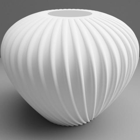 """vase crozon blanc.jpg Download STL file flowervase """"sea series"""" 3dgregor • 3D printer template, 3dgregor"""