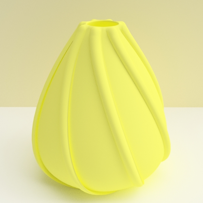 "vase coquillage jaune.jpg Download STL file ""low tide"" vase 3dgregor • 3D printing template, 3dgregor"