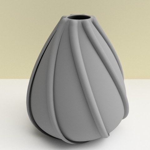 "vase coquillage gris.jpg Download STL file ""low tide"" vase 3dgregor • 3D printing template, 3dgregor"