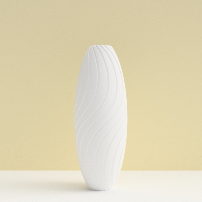 """soliflore-bassin d'arcachon blanc.jpg Download STL file """"Wave motion"""" vase • 3D printable design, 3dgregor"""