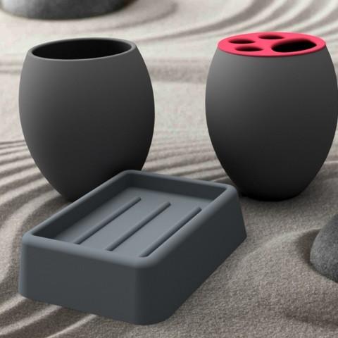 accessoire-gris-carre.jpg Download STL file Bathroom accessory 3dgregor • 3D printer model, 3dgregor