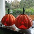 Download 3D printer designs Halloween pumpkin, 3dgregor