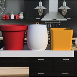 "Download 3D printer designs Flower pot ""Trioclassic"" 3dgregor, 3dgregor"