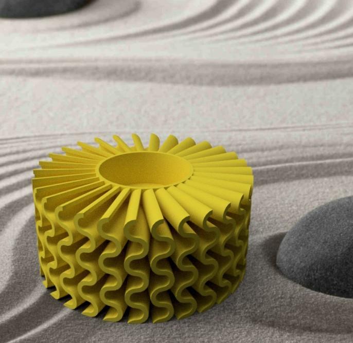 "photophore-ondulé.jpg Download STL file Corals"" series 3dgregor • 3D printable object, 3dgregor"